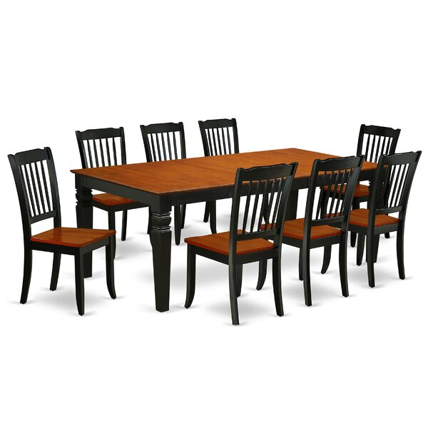 Ladner 9 Piece Extendable Solid Wood Dining Set by August Grove
