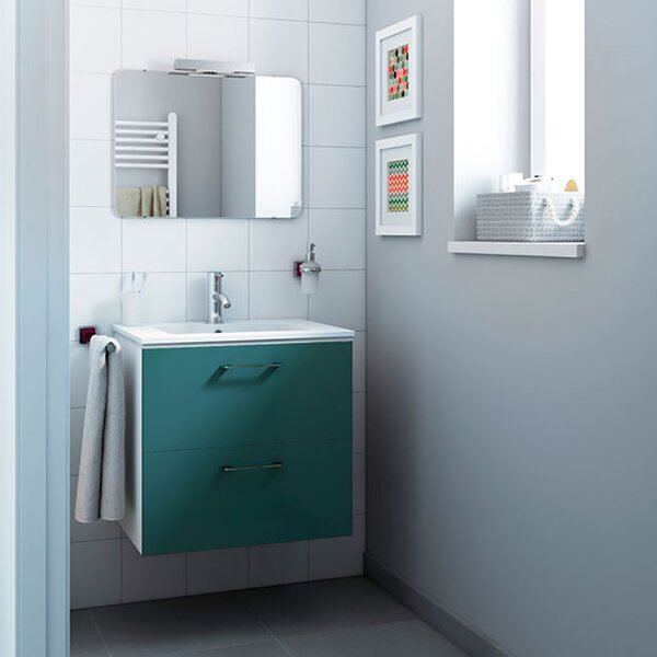 Innis 24 Wall-Mounted Single Bathroom Vanity Set by Orren Ellis
