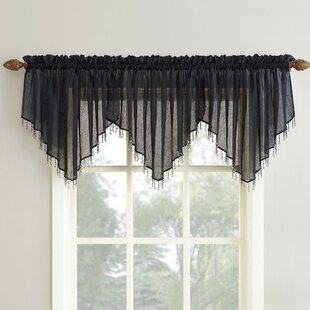 Grey Silver Valances Kitchen Curtains Youll Love