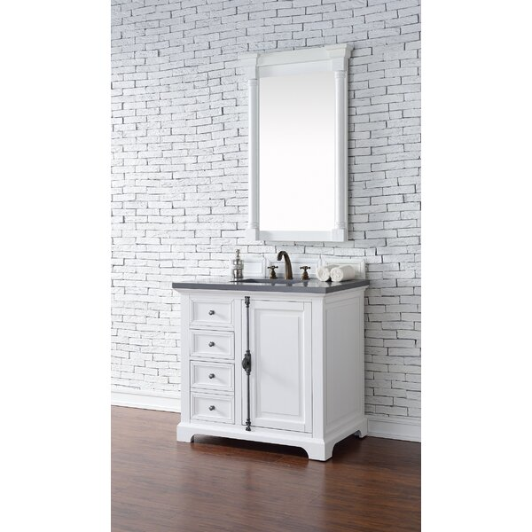 Ogallala 36 Single Undermount Sink Cottage White Bathroom Vanity Set by Greyleigh