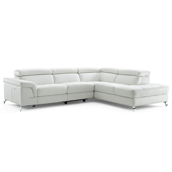 Oakfield Leather Reclining Sectional by Wade Logan