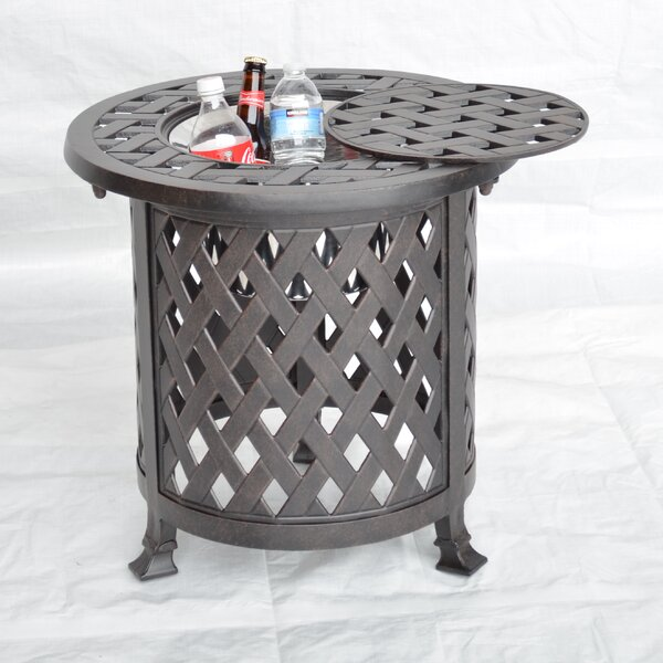 Nassau Side Table with Ice Bucket by K&B Patio