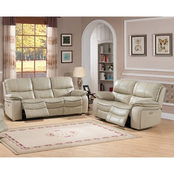Deshaun Reclining 2 Piece Leather Living Room Set  by Red Barrel Studio