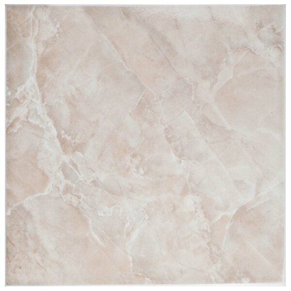 Alpha 11.75 x 11.75 Ceramic Field Tile in Pink/White by EliteTile