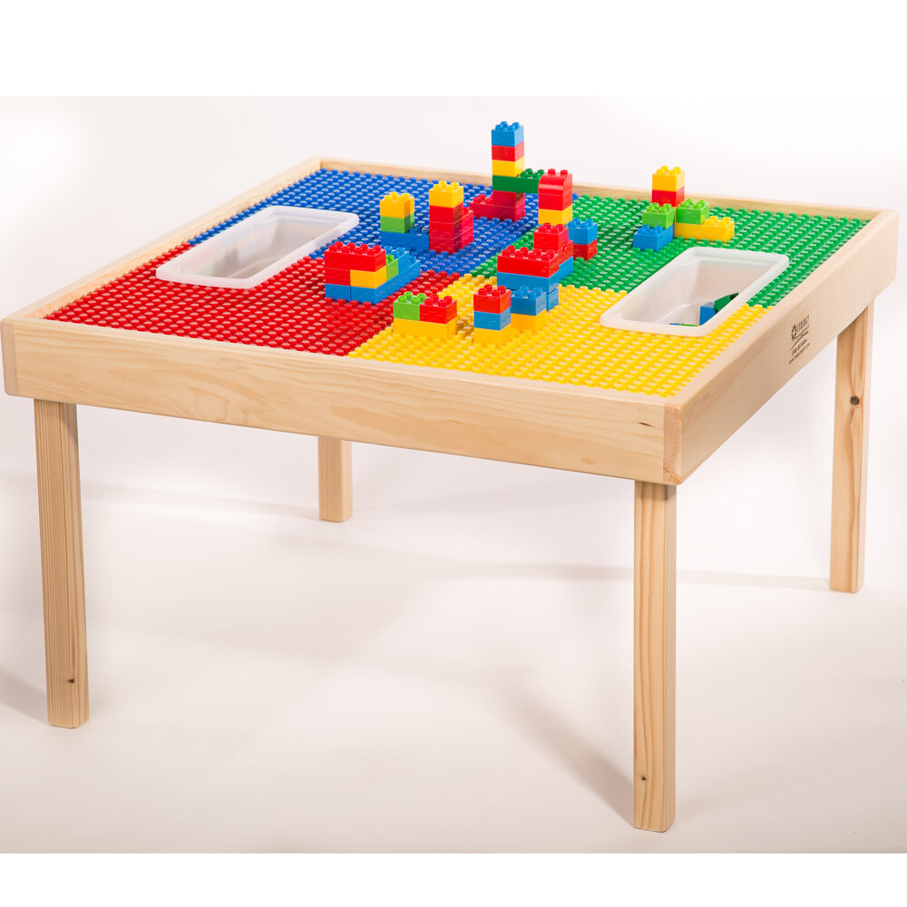 Fabiola Multi Activity Kids Square Lego Table  sc 1 st  Wayfair & Lego Duplo Table | Wayfair