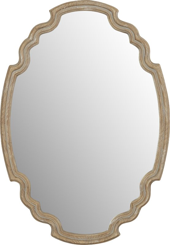 Wood Accent Mirror #modernfarmhouse #farmhousemirror