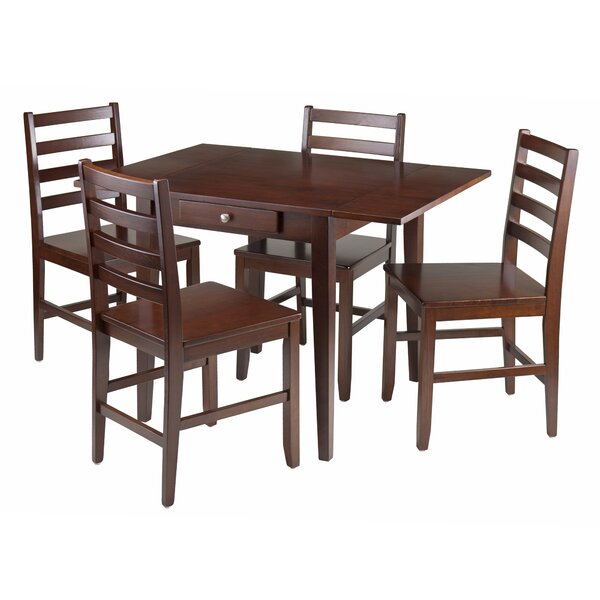 Coleshill 5 Piece Drop Leaf Dining Set by Red Barrel Studio