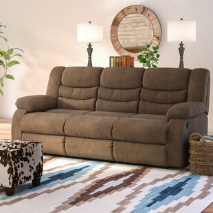 Drennan Chenille Reclining 87 Pillow top Arm Sofa by Andover Mills