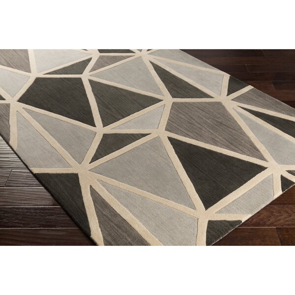 Vaughan Hand-Tufted Gray Area Rug by Wrought Studio