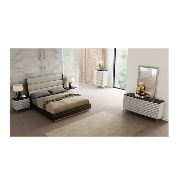 Amick Upholstered Platform Bed by Everly Quinn