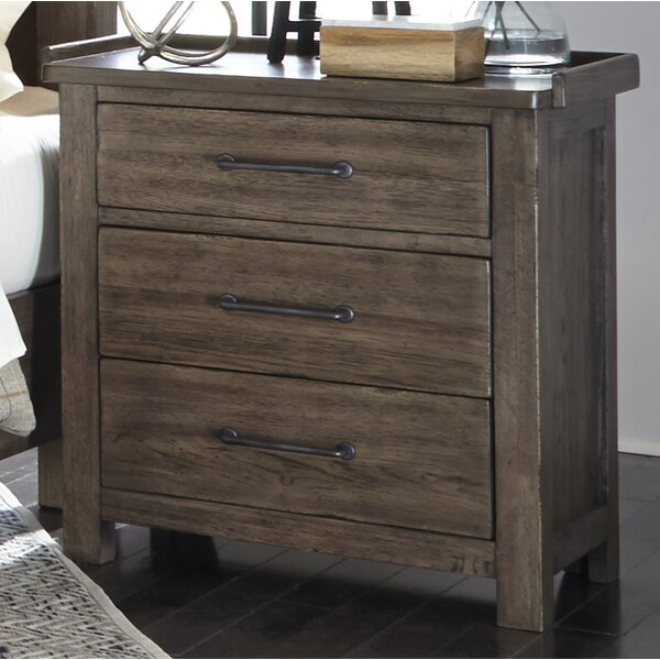 Bartow 3 Drawer Night Stand by Three Posts