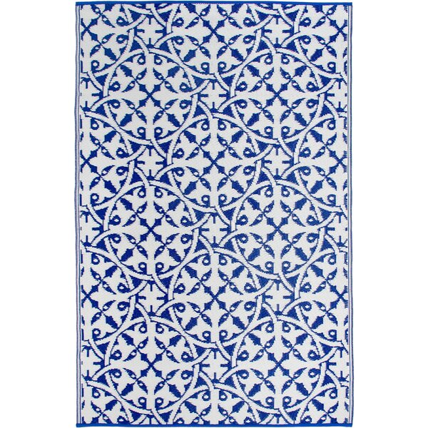 Fontayne Blue Indoor/Outdoor Area Rug by Bungalow Rose