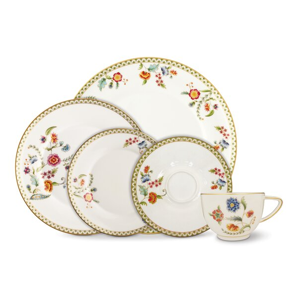 Gione 5 Piece Bone China Place Setting Set, Service for 1