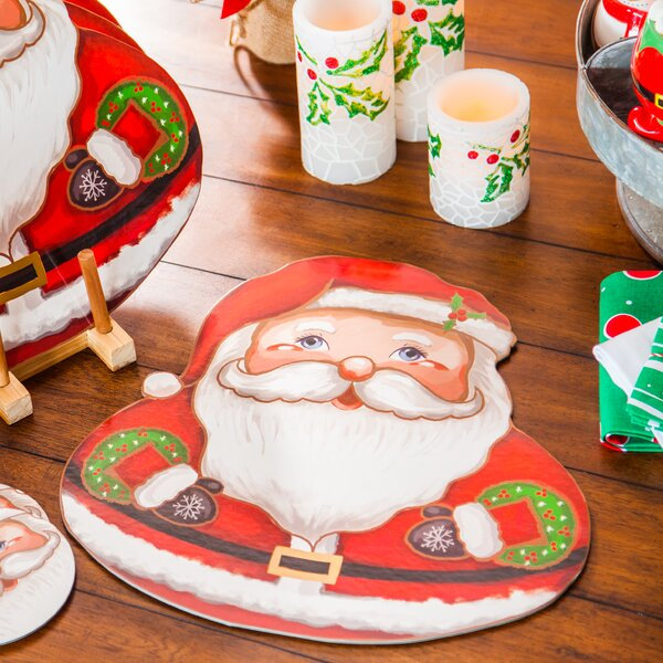 Summer Solid Santa 5 Placemat (Set of 4) by The Holiday Aisle