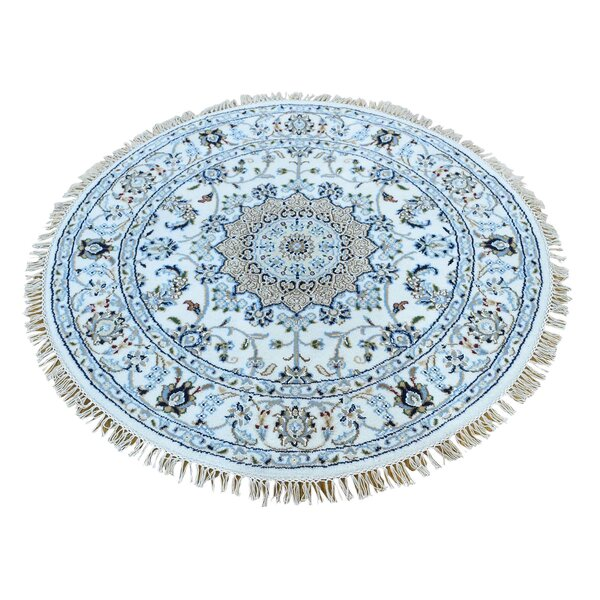 300 KPSI Nain Hand-Knotted Ivory Area Rug by Bloomsbury Market