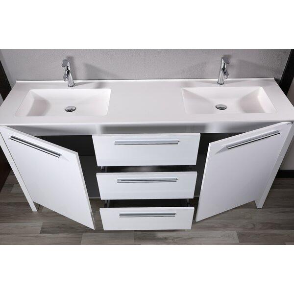 Idrak 71 Double Bathroom Vanity Set with Mirror