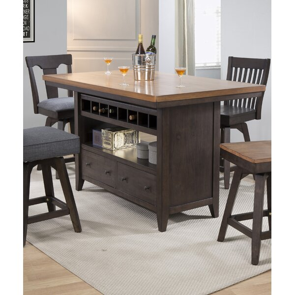 Yvonne Kitchen Island by Gracie Oaks