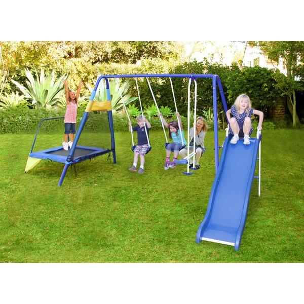 Almansor Trampoline/Slide and Swing Set by Sportspower