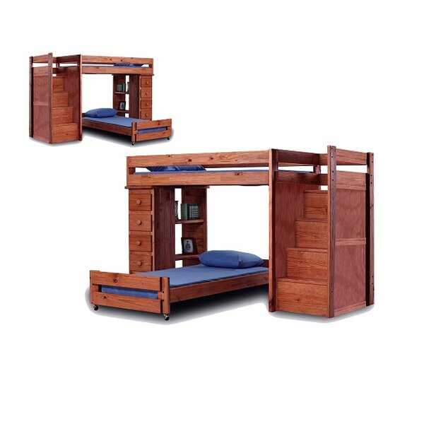 Cisneros Twin Over Twin L-Shaped Bunk Bed with Drawers by Harriet Bee