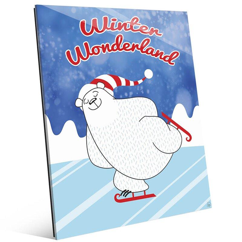 Click Wall Art Winter Wonderland Polar Bear Graphic Art On Plaque Wayfair