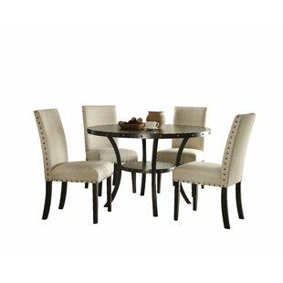 Shelly 5 Piece Dining Set ByCanora Grey