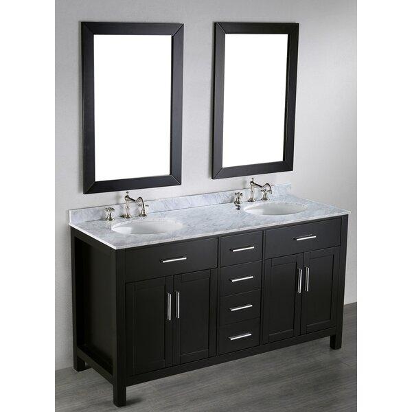 Teixeira 60 Double Bathroom Vanity Set with Mirror by Brayden Studio