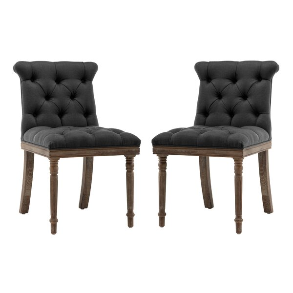 Ligia Upholstered Dining Chair (Set of 2) by One Allium Way