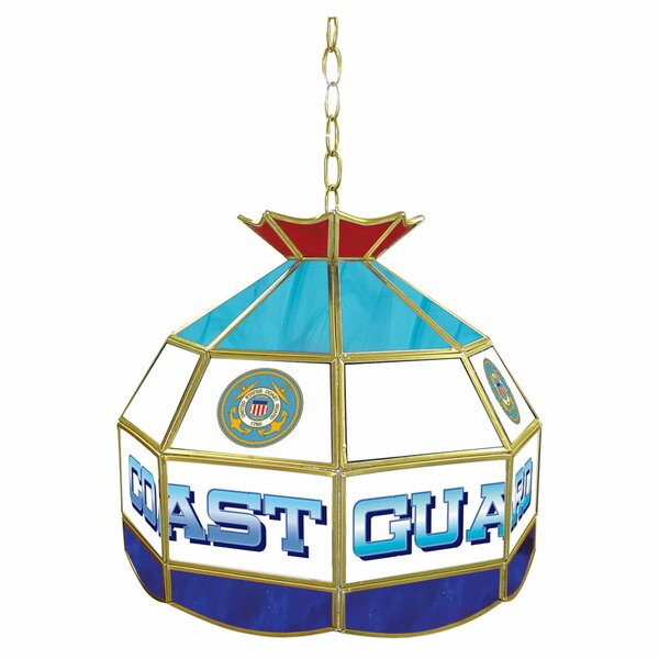 United States Coast Guard Stained Glass Tiffany Lamp by Trademark Global