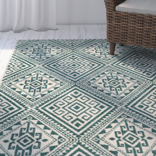 Puran Teal Area Rug by Bungalow Rose