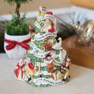 holiday musical 12 days christmas musical figurine