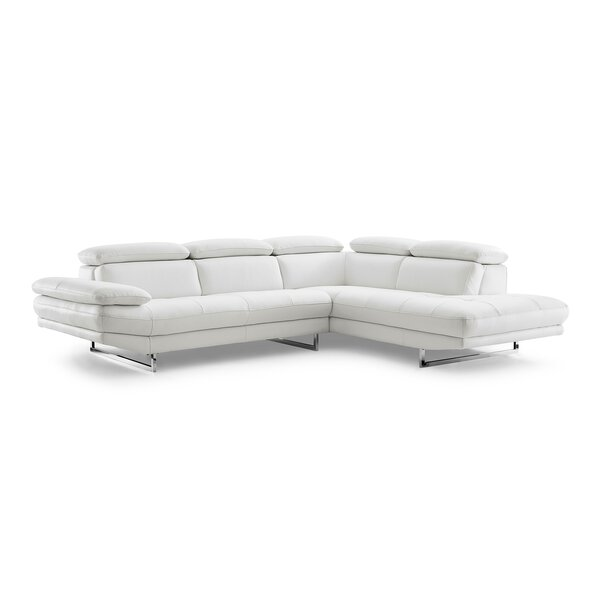 Gridley Leather Corner Sectional by Wade Logan