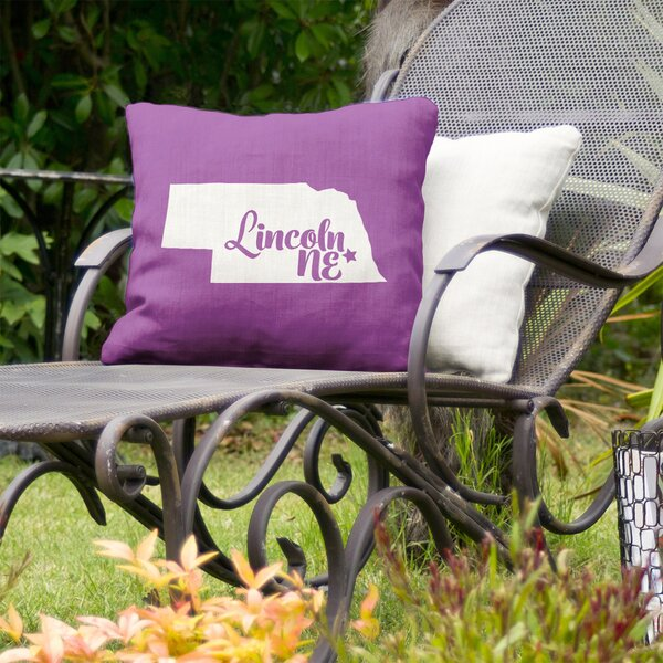 US Cities & States Indoor/Outdoor Throw Pillow