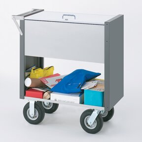 Medium Solid File Cart with Locking Top and Caster by Charnstrom