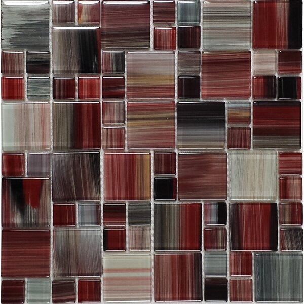 Contempo Abbott Random Sized Glass Mosaic Tile in Multi by Epoch Architectural Surfaces