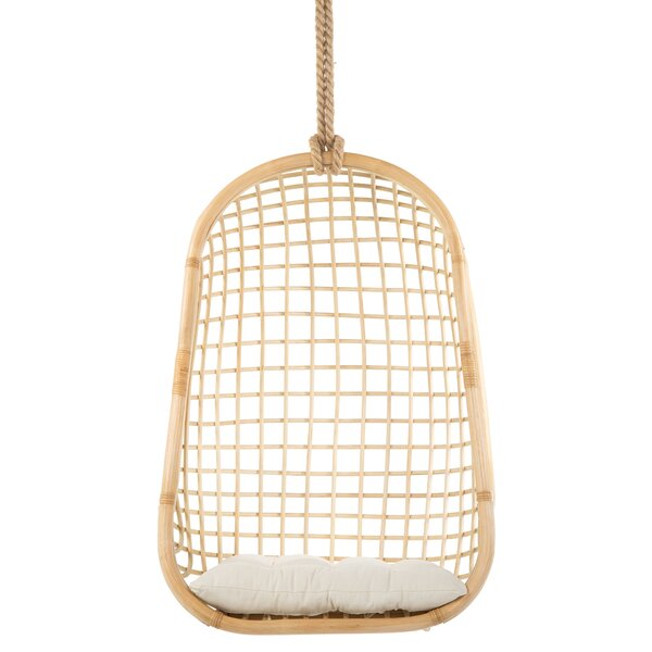 Gaige Grid Rattan Swing Chair by Bungalow Rose Bungalow Rose