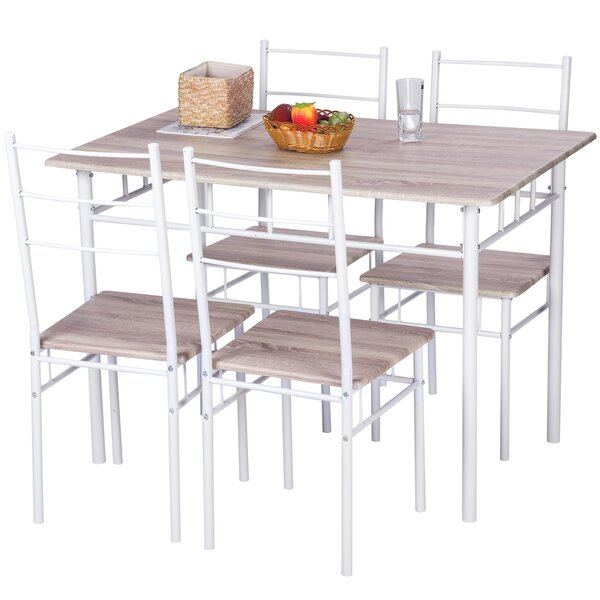 5 Piece Breakfast Nook Dining Set by Merax