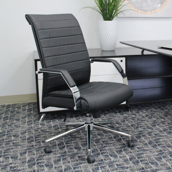 Caressoft Plus High-Back Executive Chair by Boss Office Products