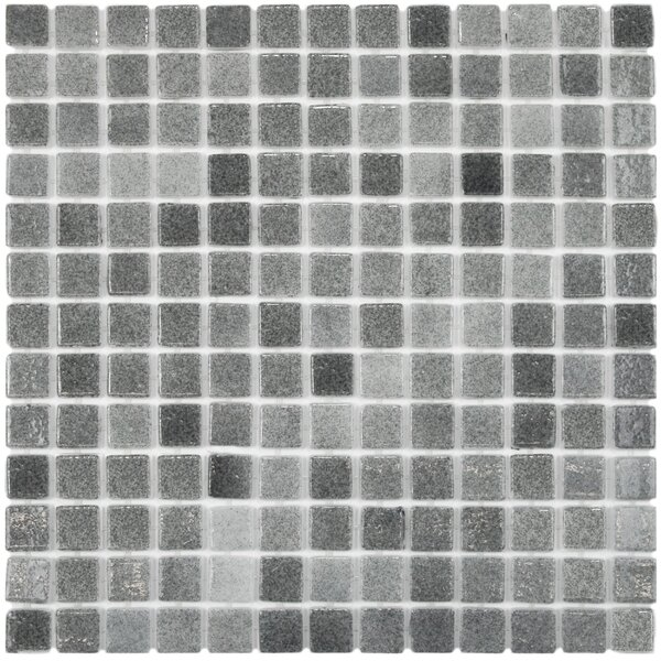 Colgadilla 0.88 x 0.88 Glass Mosaic Tile in Gray by EliteTile