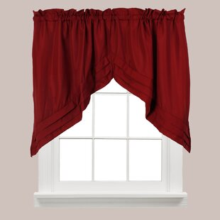 Red Valances U0026 Kitchen Curtains Youu0027ll Love | Wayfair