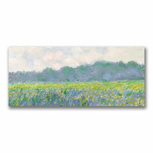 Field of Yellow Irises at Giverny by Claude Monet Painting Print on Canvas by Trademark Fine Art