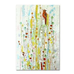 Pause by Sylvie Demers Painting Print on Wrapped Canvas by Trademark Fine Art