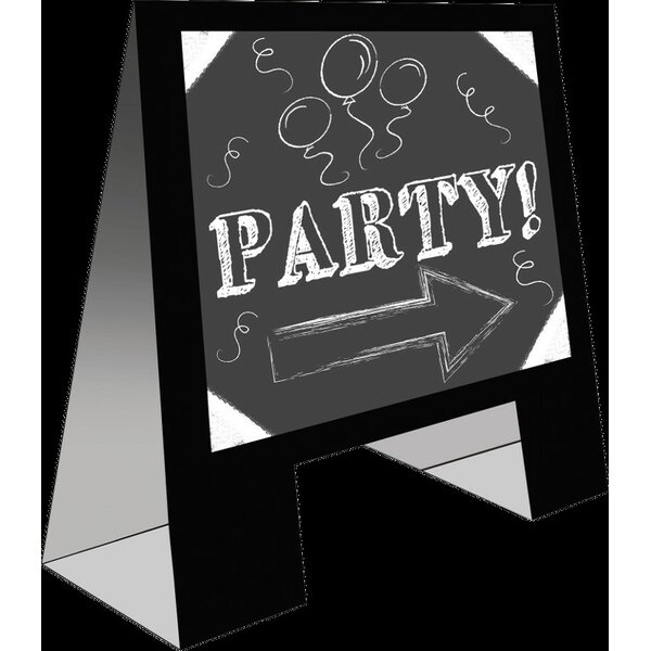 Easel Party Free Standing Chalkboard by Creative Converting