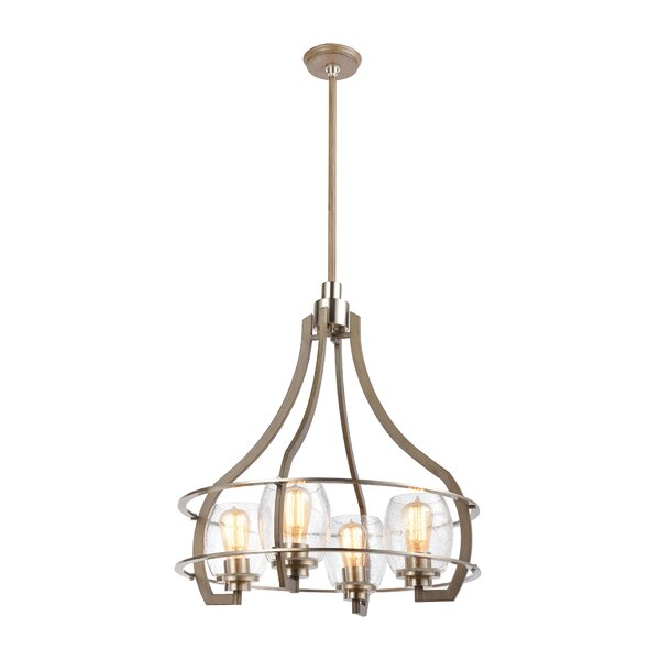 Breneman 4 - Light Unique Geometric Chandelier by Winston Porter Winston Porter