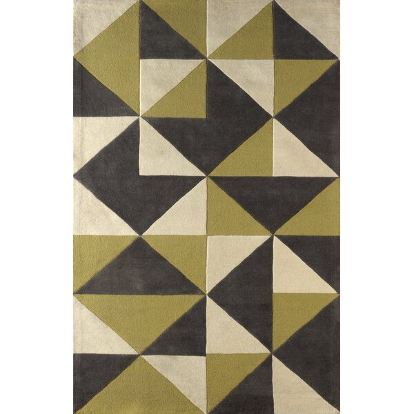 Lueras Hand-Tufted Pear/Ivory Area Rug by Brayden Studio