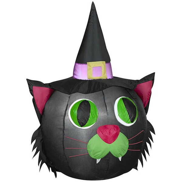 Pumpkin Cat SM Inflatable by The Holiday Aisle