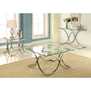 Malvern 3 Piece Coffee Table Set by House of Hampton