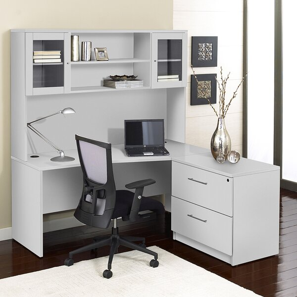 Pro X 3 Piece L-shape Desk Office Suite by Haaken Furniture