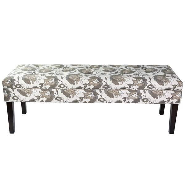 Terese Floral Upholstered Bench by Red Barrel Studio