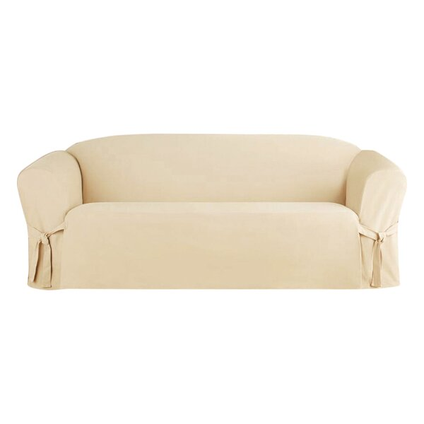 Solid Box Cushion Sofa Slipcover by Alcott Hill
