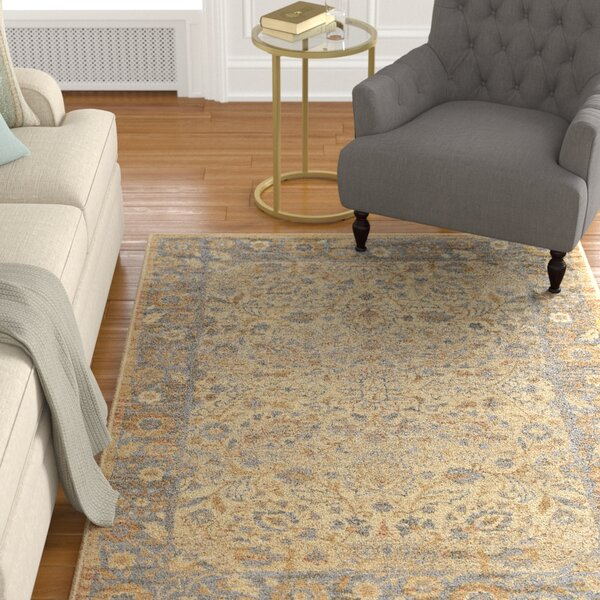 Ramiro Traditional Oriental Ivory Area Rug by Charlton Home